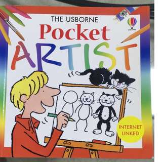Drawing Guide Book- Pocket Artist- Close to New