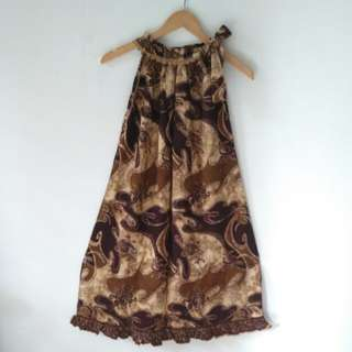 Reprice Brown batik halter neck
