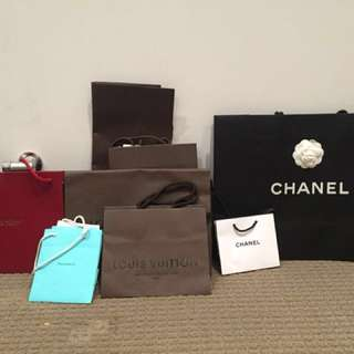Chanel,LV, Tiffany and Cartier bag