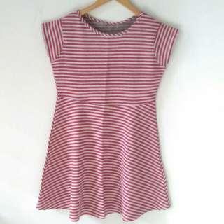 Reprice Mini Red stripe dress