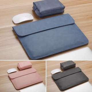 PU Leather Laptop Sleeves & Battery Charger Bag for ALL Brand of Laptop