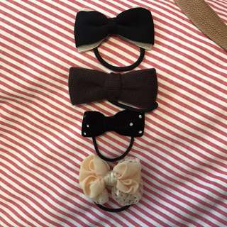 4 Bow Tie Shaped Hair Bands ($9 each)