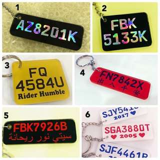 **Promo** Customised Bike Plate keychain