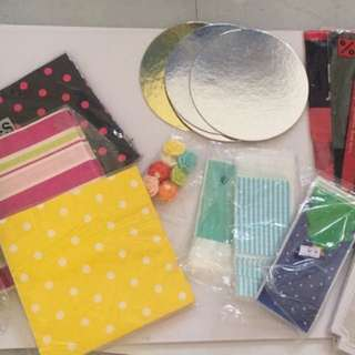 Baking and packaging supplies