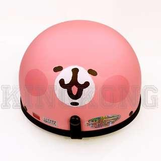 🚚 【金剛安全帽】(買一送二) 卡娜赫拉 Kanahei 人氣LINE貼圖 1/2復古碗公帽 半頂式安全帽 買就送鏡片+雨衣