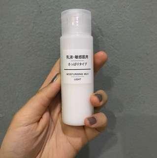 moisturising milk by MUJI