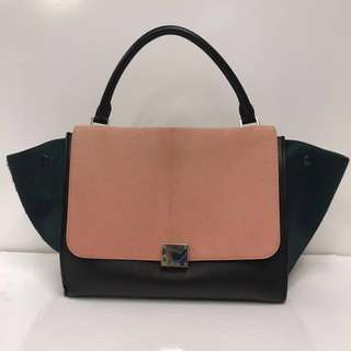 Celine Medium Trapeze 馬尾毛Handbag