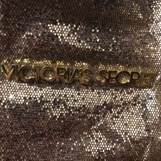 DONATED - NO LONGER FOR SALE  Victoria's Secret giant beach bag gold glitter