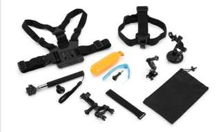 9 Piece GoPro Accessory Kit Compatible with all GoPro cameras.