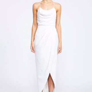 NEW Shona Joy White Cowl Neck Dress