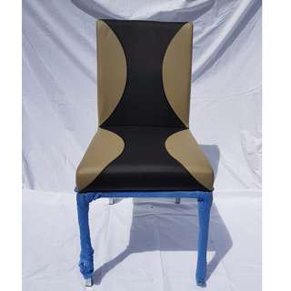 Brand New Faux Leather 2 Tone Stainless Steel Chair