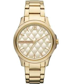 Armani Exchange AX5201 Gold Quilted Gold Ion-plated Ladies Watch