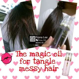 Remedy for the dry, brittle, tangle, messy hair