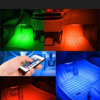 vehicle multi colour music led set with remote