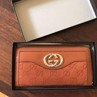 Gucci Sukey Guccissima leather wallet