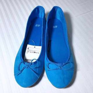 Authentic Brand New H&M Bright Blue Ballet Flats