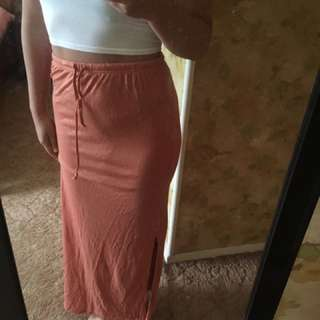 Casual Maxi Skirt W Slit