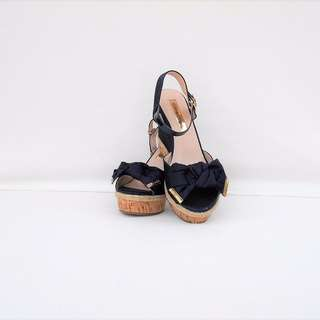 MARIE CLAIRE Blue Heels Wedges Sandals - NEW