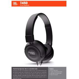 JBL T450 On-ear headphones (White / Black)