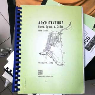 D.K.Ching Architecture Form, Space & Order