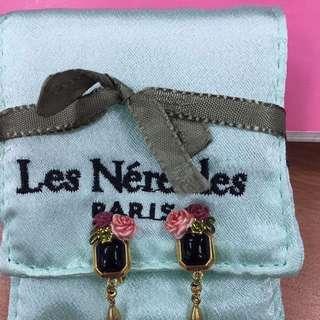Les Nereides夾式耳環,絕美玫瑰+金色底座#手滑買太多