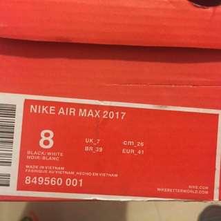 Nike Air Max 2017 Authentic White Grey Orange