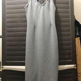 Gray Sleeveless Dress