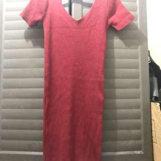 Red Vneck Dress
