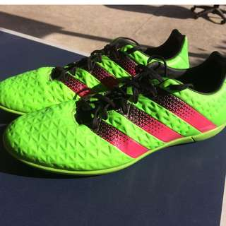 Adidas ACE 16.3 Indoor Shoes - Green Adidas Football For Men and Women- Size 8US
