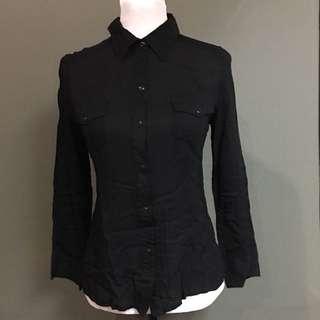 Vivant (SM Dept Store) Black Button Down Long Sleeves