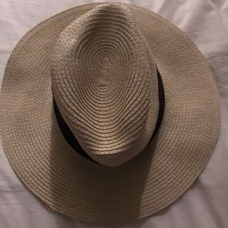 ASOS straw fedora hat - natural
