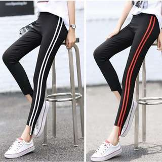 Korean style striped legging pants