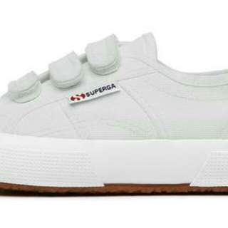 Superga white velcro