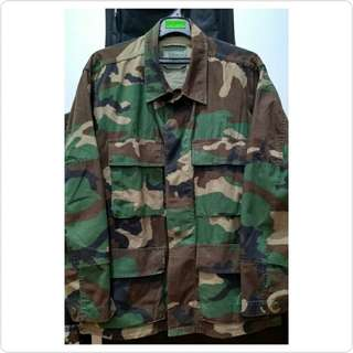 BDU Woodland Camouflage (Size Small X Short)