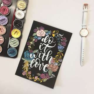 'Do It With Love' Brush Lettering Card
