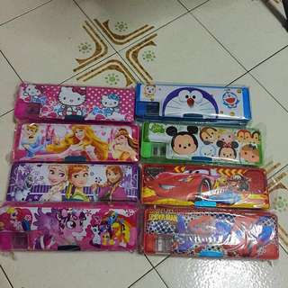 NEW Double sided magnetic pencil box (cartoon disney character) christmas xmas present goodie bag