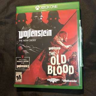 Wolfenstein new order / the old blood 2 disc Combo