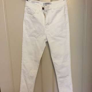 BNWT American Apparel White High Waisted Skinny Jeans (Size 25/7)