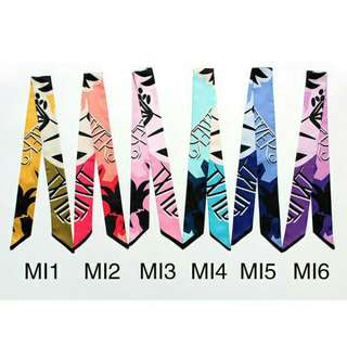 Gradient Color Decorative Twilly Scarfs