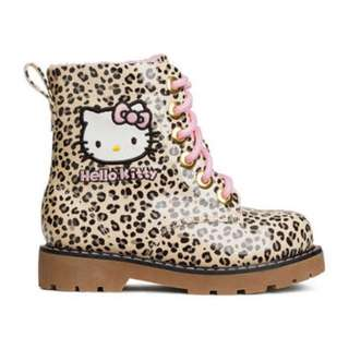 H&M Lined Boots - Leopard Print/ Hello Kitty Kids