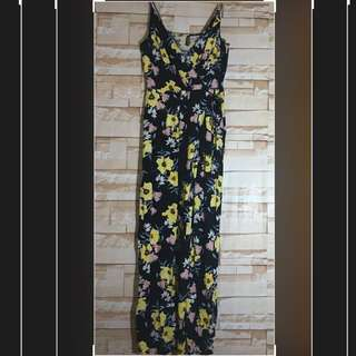 Brand New H&M Brand New floral Overlap Maxi Dress