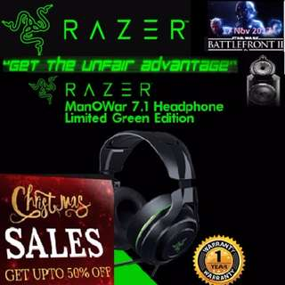 Razer ManO'War 7.1 Limited Razer Green Edition.  ( Pre-Christmas Sales, Hurry Grab it while Stock last. ) Till 31st Dec 17. New...