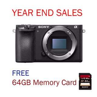 New Sony A6500 Mirrorless Camera (Sony Malaysia) Free 64Gb SDXC Memory Card