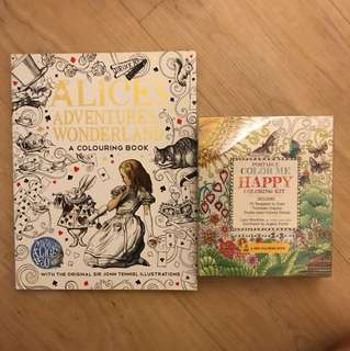 Coloring books - Alice in Wonderland and Gardenscapes