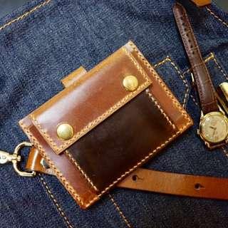 手作真皮卡套連散紙包 Genuine Leather Craftwork
