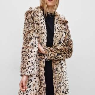 Aritzia Leopard Faux Fur Coat