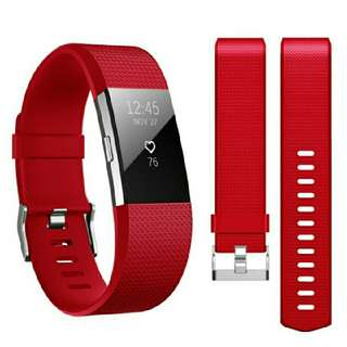 Band for Fitbit Charge 2 , Hanlesi Soft TPU Silicone Adjustable Replacement Sport Strap Band for Fitbit Charge2 Smartwatch Heart Rate Fitness Wristband