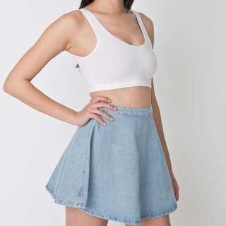 American Apparel Inspired Denim Circle Skirt