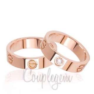 Rose Gold Cartier Diamond Ring inspired