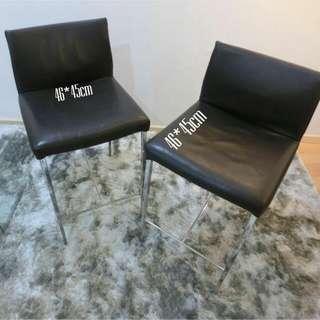 Genuine leather high chair